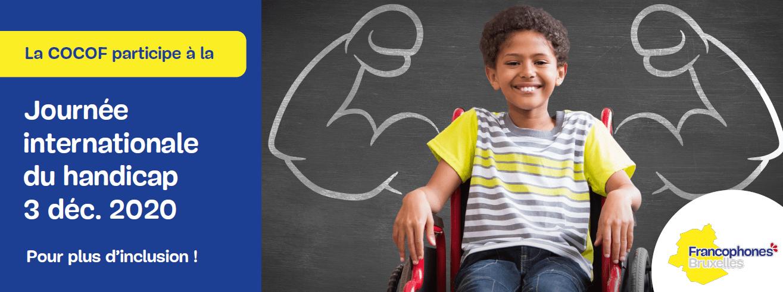 La COCOF participe à la journée internationale du handicap le 3 décembre 2020 pour plus d'inclusion